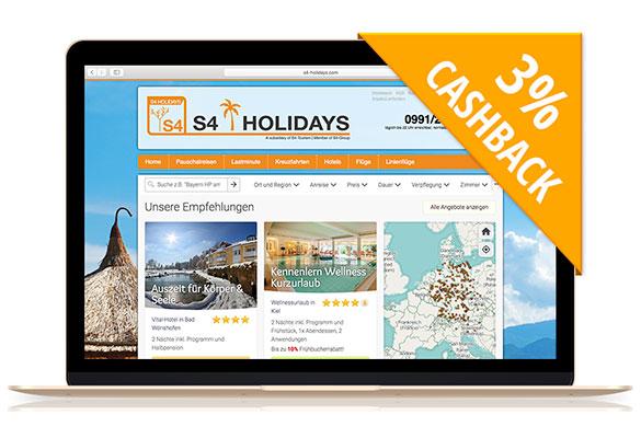 S4-Holidays | Mit Cashback auf Beauty-Reisen!