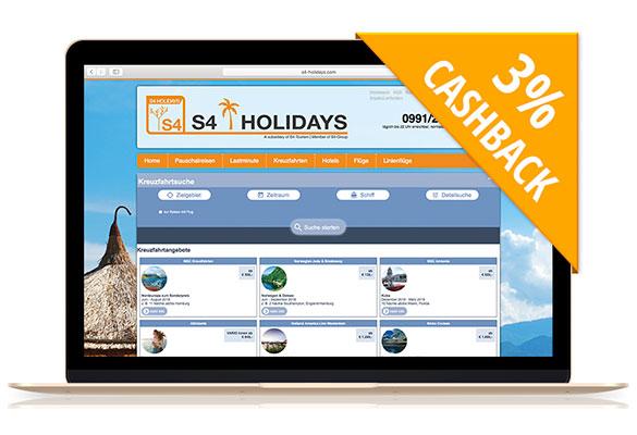 S4-Holidays | Mit Cashback auf Kreuzfahrt gehen!