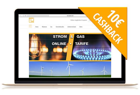 S4-Power | Mit Cashback zum neuen Tarif für Gas!